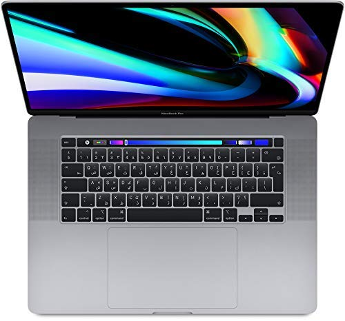 Apple Macbook Pro Touch Bar and Touch ID MVVJ2 ( 2019 ) Laptop - Intel Core i7, 2.6GHz, 16-Inch, 512GB, 16GB, AMD Radeon Pro 5300M-4GB,Eng-Arb-KB, Space Gray, Middle East Version