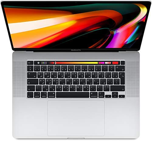 Apple Macbook Pro Touch Bar and Touch ID MVVM2 ( 2019 ) Laptop - Intel Core i9, 2.3GHz, 16-Inch, 1TB, 16GB, AMD Radeon Pro 5500M-4GB,Eng-Arb-KB, Silver, Middle East Version